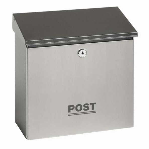 Small Stainless Steel Post Box