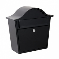 Simple Black Wall Mounted Post Box